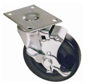 Caster, 4″ Swivel With Brake