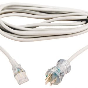 Hospital Grade Power Cord, 20′ With Inline Female Business Connector