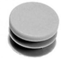 Tube End Cap & Plug Button, Grey Plastic Plug, 3/4″, 10/Pk