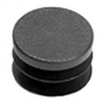 Tube End Cap & Plug Button, Black Plastic Plug, 7/8″, 10/Pk