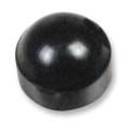 Caster Stem Dust & Hub Cap, Black Plastic Dust Cap, Fits Invacare