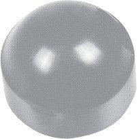 Caster Stem Dust & Hub Cap, Grey Plastic Dust Cap, Fits E & J And Others, 10/PK