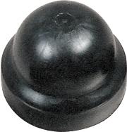 Caster Stem Dust & Hub Cap, Black Plastic Dust Cap, Fits E & J And Others