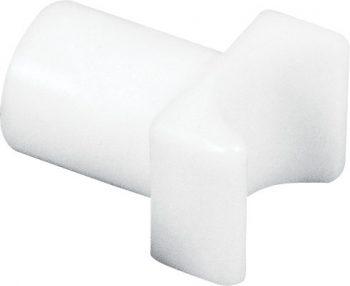 White Plastic Fixed Arm Seat Rail Guide