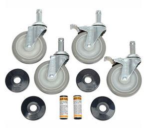Nexel Stem Caster W/Donut Bumper W/ Brakes, Polyurethane, 300-lb Capacity