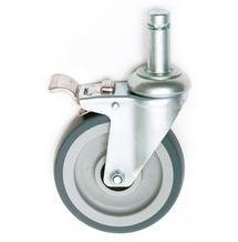 Nexel Stem Caster W/Donut Bumper W/ Brake, Resilient Rummer, 200-lb Capacity