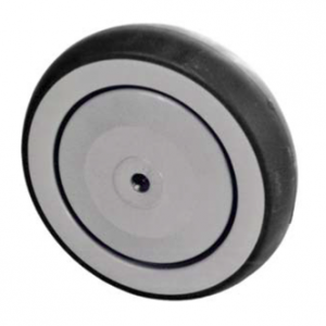 Grey Rubber Wheel, Round Tread