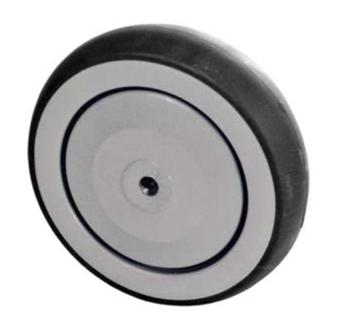 Grey Rubber Wheel, Round Tread