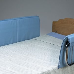 Half-Size Vinyl Bed Rail Pads – Pair