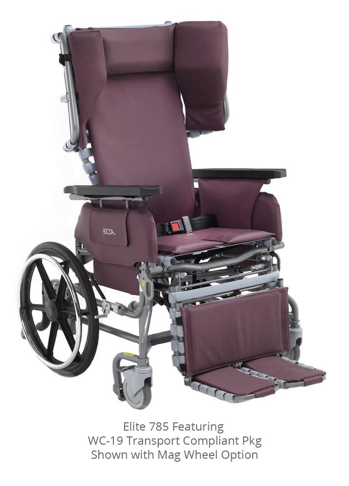 Broda Elite Transport Chair 785 Wc 19 Castle Amp Cooper Inc